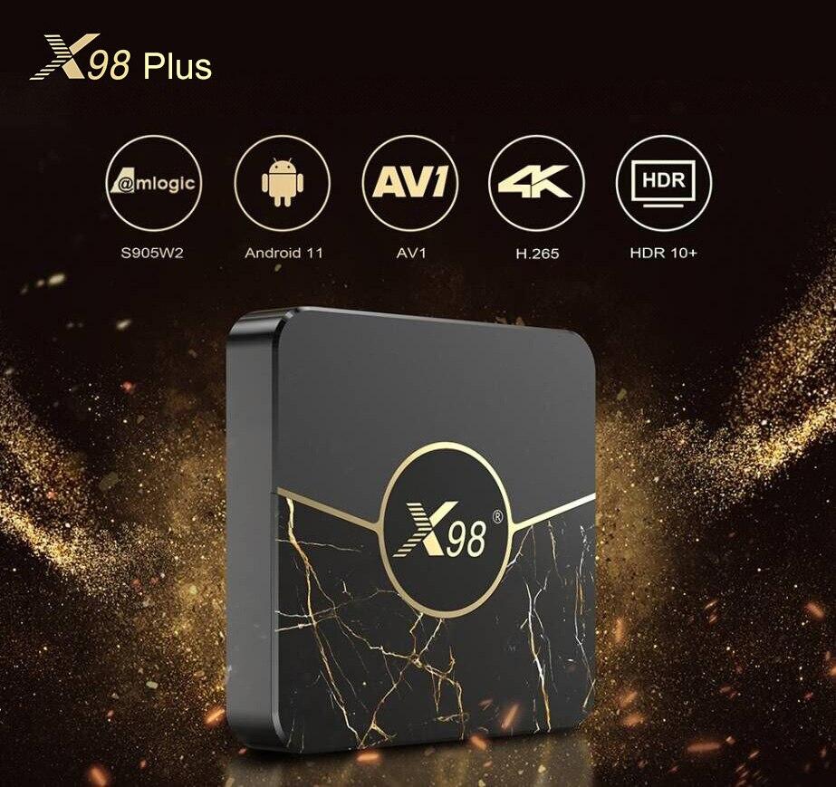 فونتار Amlogic S905W2 صندوق التلفزيون أندرويد 11 رباعية النواة 2.4G & 5G المزدوج واي فاي 100M 4K 60fps مشغل الوسائط الذكية أندرويد 11.0 X98 PLUS