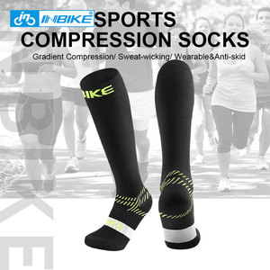 INBIKE Sports Compression Socks Anti Fatigue Pain Relief Knee High Stockings Breathable Elastic Stretch Running Cycling Outdoor