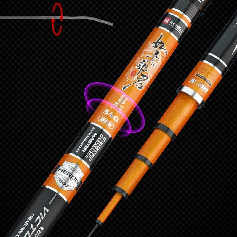3.6M-7.2M Carp Fishing Canne Super Hard Taiwan Fishing Rod Telescopic Wedkarstwo Olta Hand Poles De Pesca 19 Tone Fishing Tackle enlarge