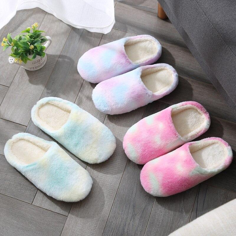 Zapatillas de abrigo para mujer, zapatos de Otoño Invierno para el hogar, zapatillas de pareja de algodón suave inferior para hombre, zapatillas de chanclas para interiores, zapatillas para invitados, mocasín para mujer