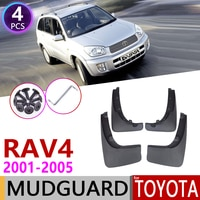 Car Mudflaps for Toyota RAV4 RAV 4 XA20 2001~2005 Fender Mud Guard Flap Splash Flaps Mudguard Accessories 2002 2003 2004 2nd Gen