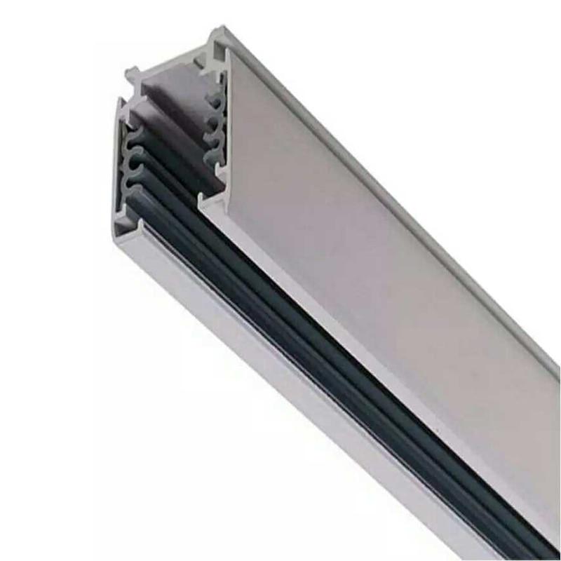 Fanlive 20pc Track Rail 3 Phase Circuit 4 Wire LED Track Light Rail Lighting Track System Universal Rails Track Lamp Rail 1m