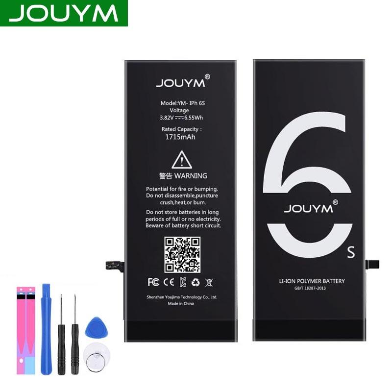 Batterie de téléphone dorigine JOUYM pour iPhone 6 6S 7 8 5 S 5 SE 6 plus batterie de qualité de remplacement pour iPhone6 iPhone7 avec kit doutils