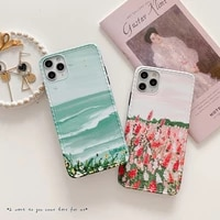 iphone case instargam oil painting style apple 12promax mobile phone shell xsmax all inclusive xr silicone shell for 11 7 8plus