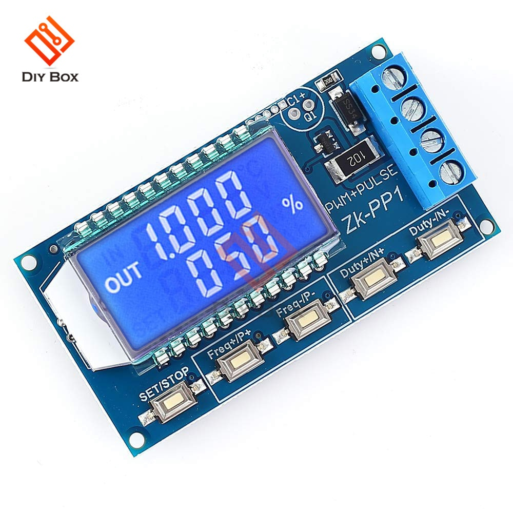 3.3 -30V PWM Pulse Number Frequency Duty Cycle Adjustable Signal Generator Module LCD Display Square Wave Rectangular Wave 1 channel signal generator pwm pulse frequency duty cycle adjustable module lcd display 1hz 150khz 3 3v 30v pwm board module