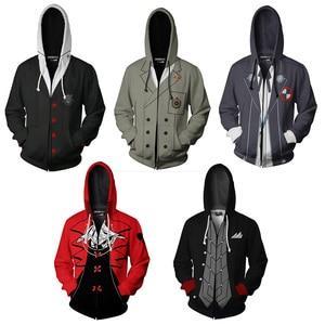 Anime Persona 5 Cosplay Hoodie Sweatshirts Autumn Mens Harajuku Hooded Jacket Coat Halloween P5 Hoodies Pullover For Women