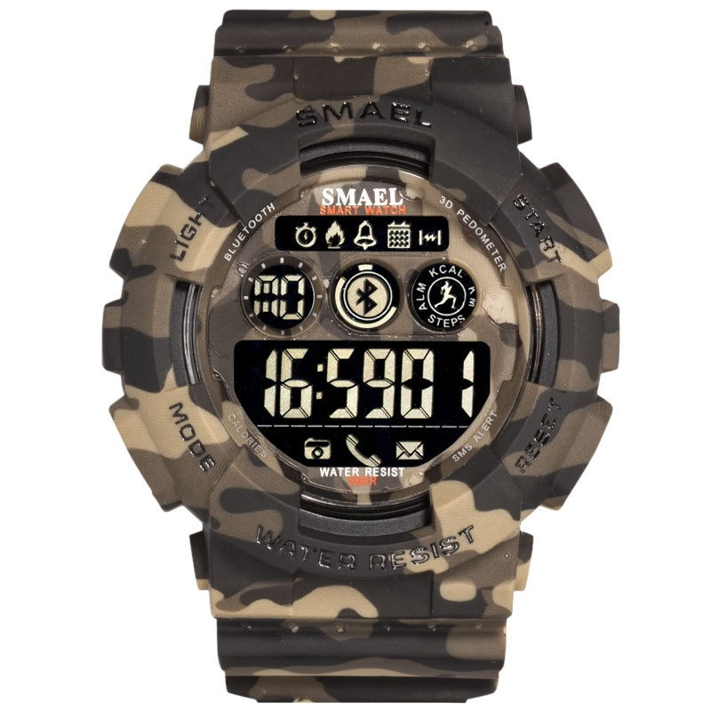 SMAEL Brand Men's Waterproof Sport Watch Dual Display Analog Digital LED Electronic Quartz Military Wristwatch relogio masculino enlarge