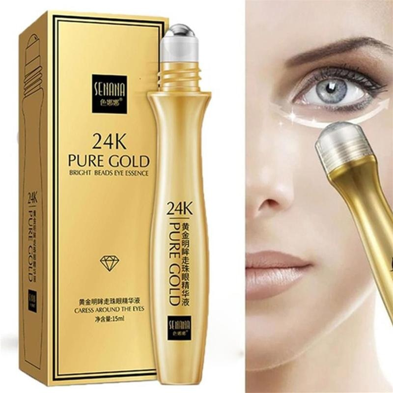 24k Gold Snail Eye Serum Roll-on Eye Cream Remove Dark Circles Wrinkle Remove Eye Bag Fine Lines Eye Cream