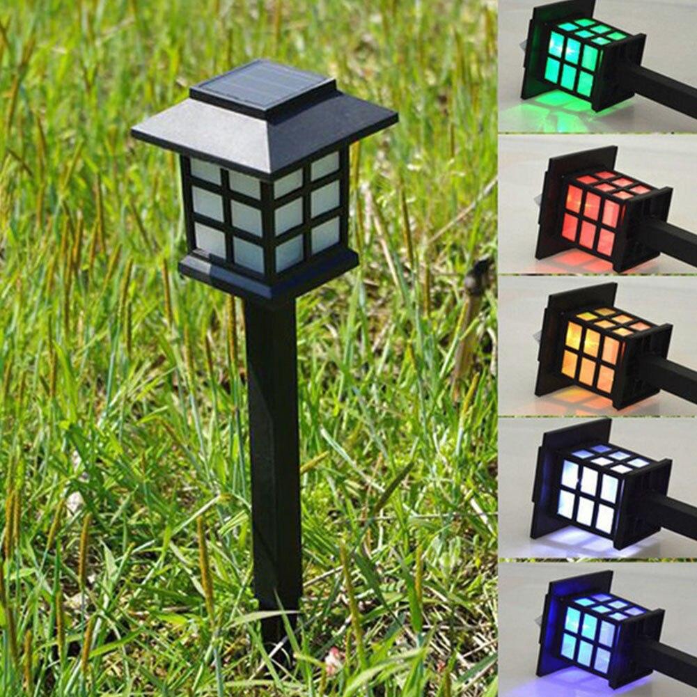 Wystrój ogrodu wodoodporny płot zewnętrzny ścieżka główna ABS trawnik krajobrazowy Yard LED lampa słoneczna