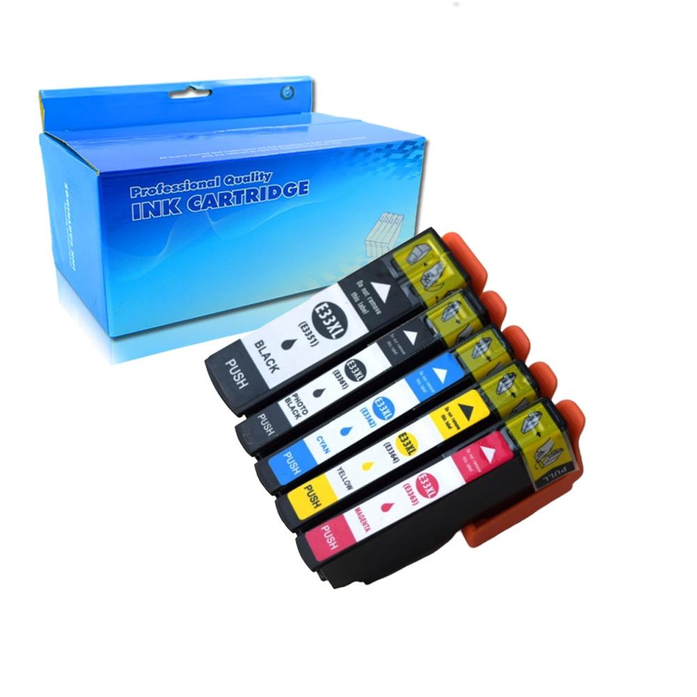 Epson 5PK T3351 T3361 cartucho de tinta Compatível para Epson XP-530 XP-630 XP-830 XP-635 XP-540 XP-640 XP-645 Impressora