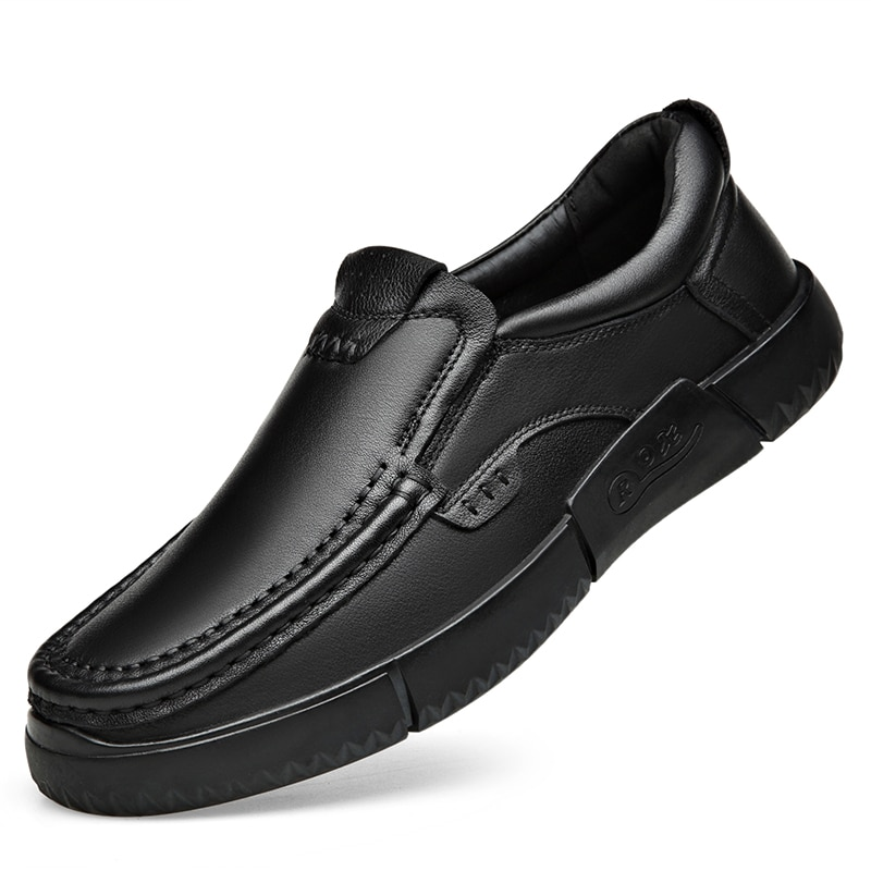 Genuine Genuine Leather Fashion Men's Shoes  Handmade Causal Shoes Men cowhide Business Moccasins Ma