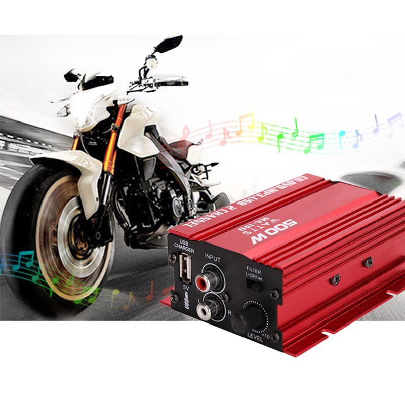 Mini amplificador estéreo Hi-Fi para coche y motocicleta, 18W, 2 canales