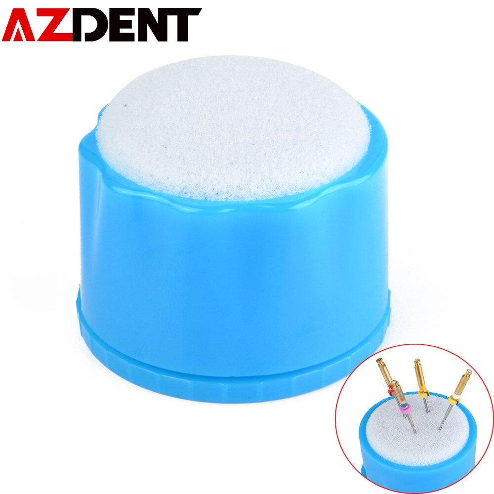 1 unidad de mesa de limpieza de Lima de conducto de raíz Dental, esponja para Lima de raíz, soporte de conducto de raíz, materiales dentales, consumibles orales