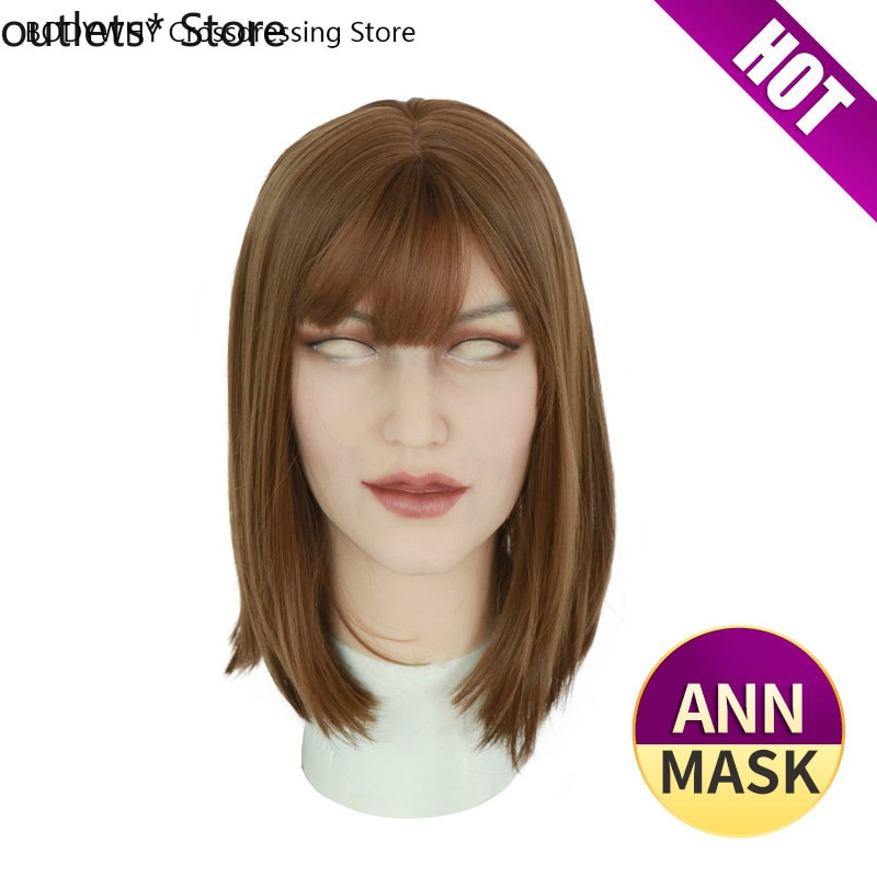 New Silicone Mask Latex Sexy Cosplay Artificial Realistic Soft Skin Mask for Crossdresser Transgender Male Shemale Drag Queen