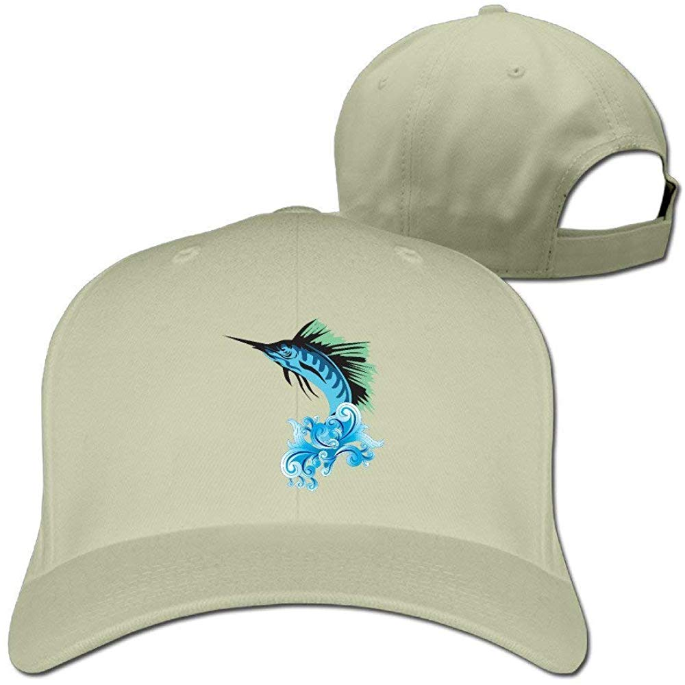 Unisex Swordfish Baseball Hip-hop Cap Vintage Adjustable Hats