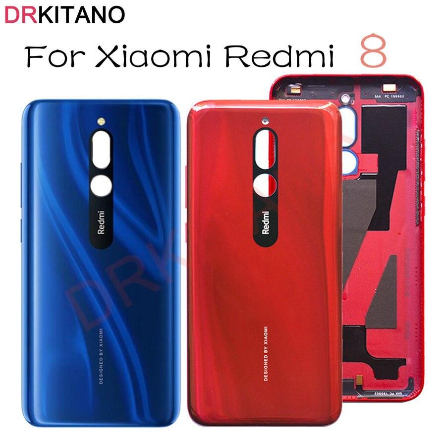 DRKITANO für Xiaomi Redmi 8 Batterie Abdeckung Zurück Gehäuse Hinten Tür Fall Für Redmi 8 Batterie Abdeckung Handy Ersatz teile