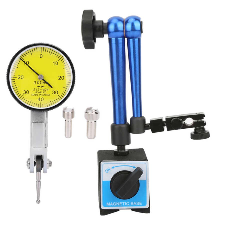 الرقمية مؤشر الاتصال المغناطيسي مرنة قاعدة حامل حامل مع الطلب المؤشر اختبار قياس الأزرق Reloj Comparador