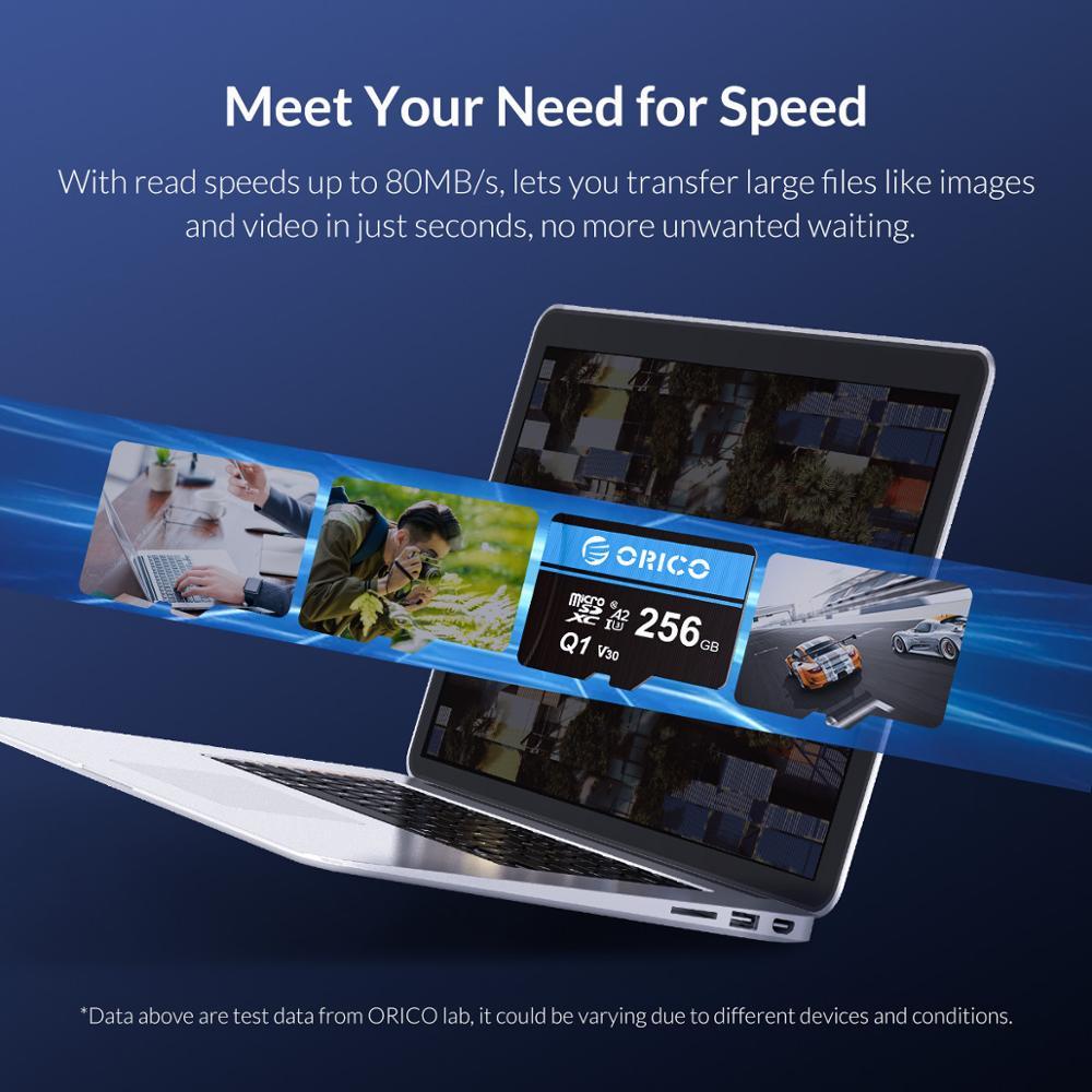 ORICO Micro SD Card Memory Card 8GB 16GB 32GB 80MB/S mini TF car Micro sd card Class10 flash card Memory 32GB TF Card for Drone enlarge