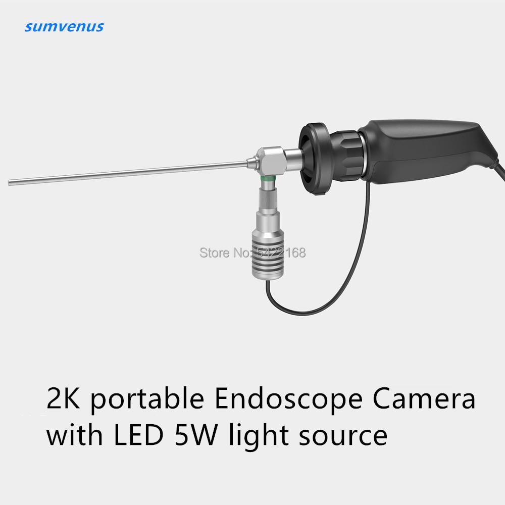 كاميرا فيديو منظار داخلي للجراحة الطبية, كاميرا صغيرة محمولة عالية الدقة 2K بمصدر إضاءة LED 5 وات