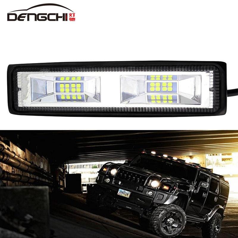 6 bolsas 48w 16 lumière led barra lampe de travail ampola de faisceau dinondation voiture brouillard lâmpadas para 4x4