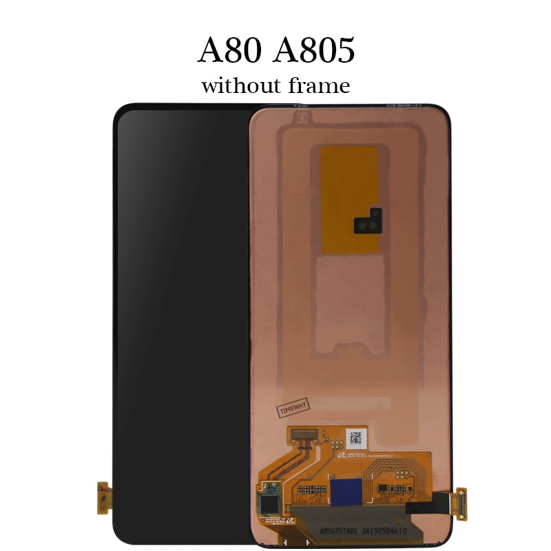 Super AMOLED LCD for Samsung A80 LCD Touch Screen Digitizer Assembly LCD for Samsung A805 SM-A805F LCD Touch Screen enlarge