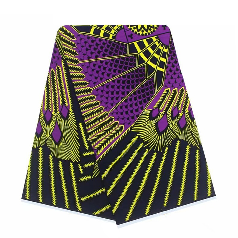 Fabrics per meter Nigerian Style Wax African Print Cotton Fabric For Sewing 100%Soft Veritable Best Quality Dress Material VL 12