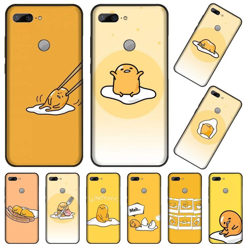 Gudetama jajko japonia anime etui na telefony dla Huawei Honor 7C 7A 8X 8A 9 10 10i Lite 20 NOVA 3i 3e coque shell skrzynki pokrywa