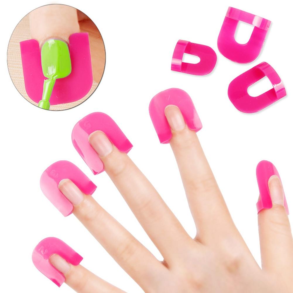 Abrazadera antidesbordamiento para Nail Art, 26 Uds., 10 tamaños, Clip de modelo para esmalte de uñas