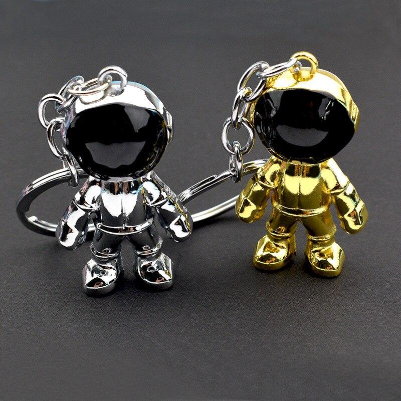 3D Fashion Space Human Spaceman Keychain Metal Heavy Pendant Robot Astronaut Keychain Couples Boyfriend Gift Car Keyring Holder