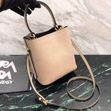 luxury famous designer women double bag handbag bucket bag shoulder bag import calfskin leather Euro