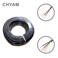 22 awg 0 3mm2 rvv 23456781012141618 cores pins copper wire conductor electric rvv cable black