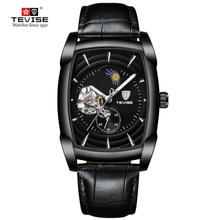 Top Brand Mens Luxury Watches Tourbillon Automatic Mechanical Watch Business Fashion Black Leather W
