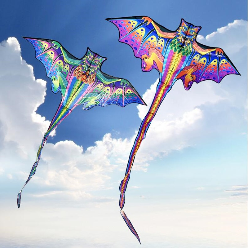 free shipping 3d dragon kite for kids kite nylon toys fly kites children kite line weifang bird kite