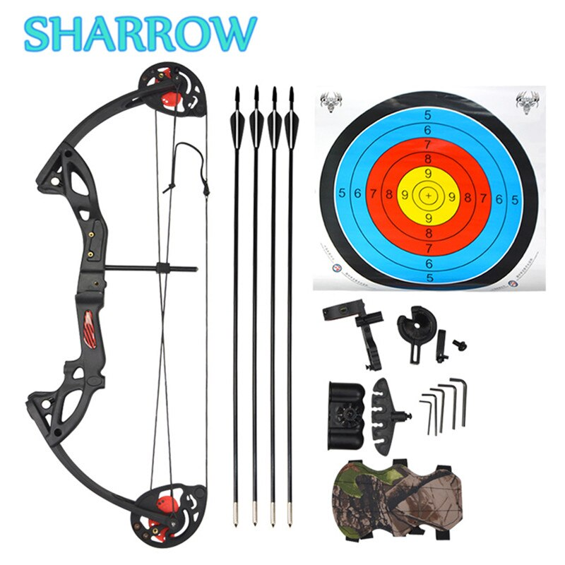 Junior Complete Compound Bow Arrow Package Set Youth 15-29lbs Children Junior Entry Level Kit 260fps Shooting Target Training
