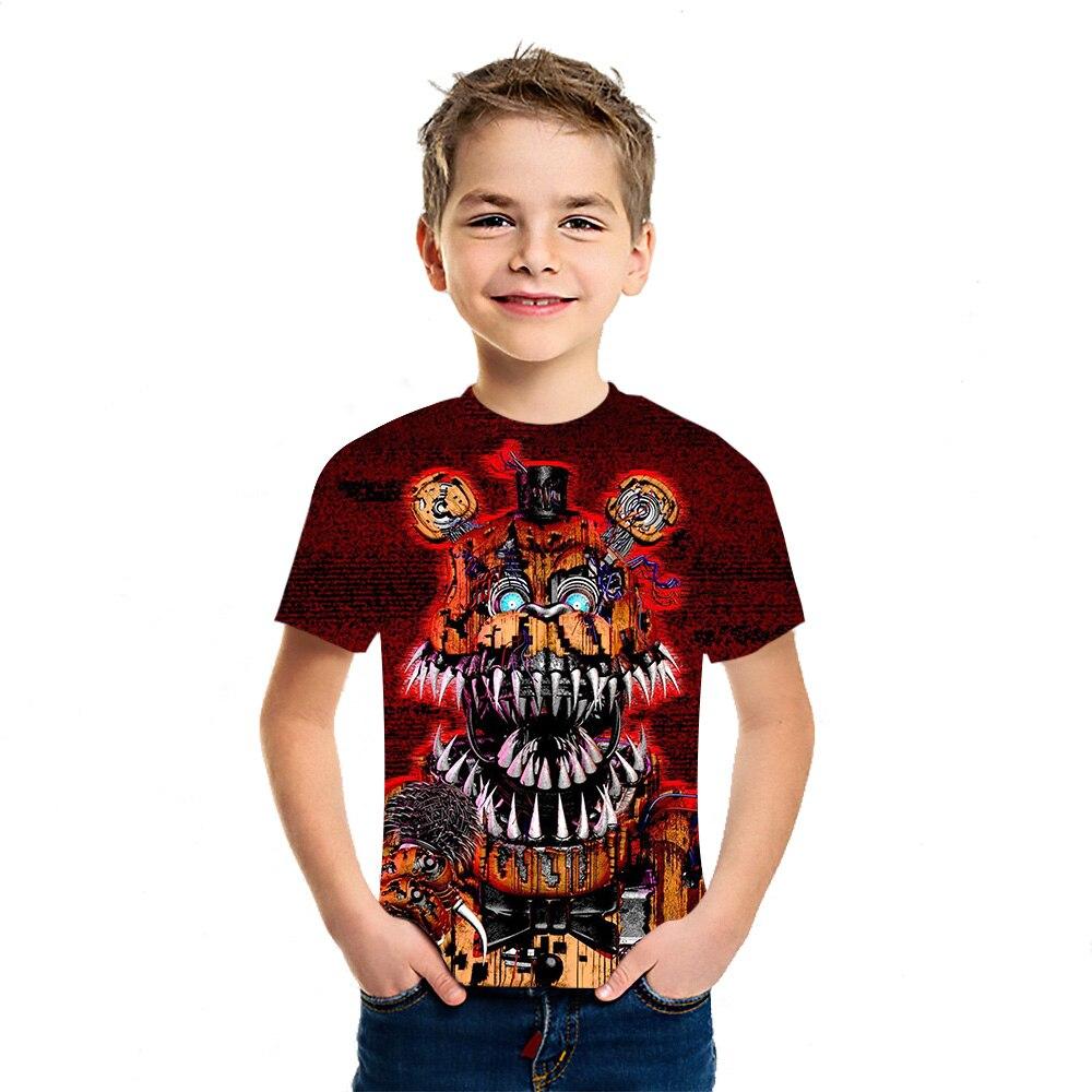 Freddy – T-Shirt manches courtes pour garçons et filles, imprimé en 3D, personnalisé, Harajuku, ample, décontracté, à la mode, été, 2021