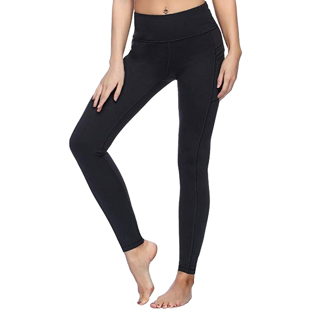 Mallas deportivas arriba sin costuras de cintura alta para mujer de pantalones...