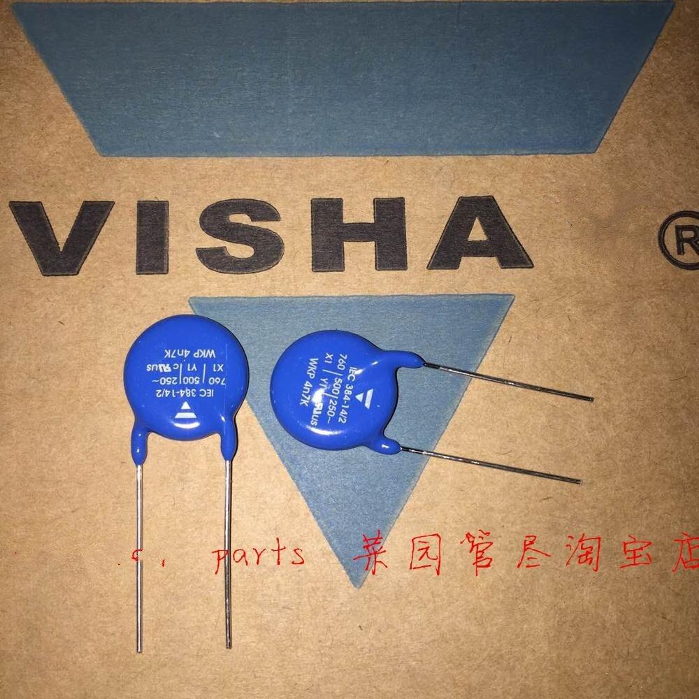 100% PCS 20 Novo e original250VAC 472M 760V 760VAC 4700PF X1Y1 Ampere placa capacitor