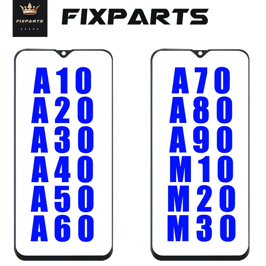 Original New Outer Glass For Samsung Galaxy A10 A20 A30 A40 A50 A70 A90 Front Glass Outer Glass screen Panel Replacement M10 M20