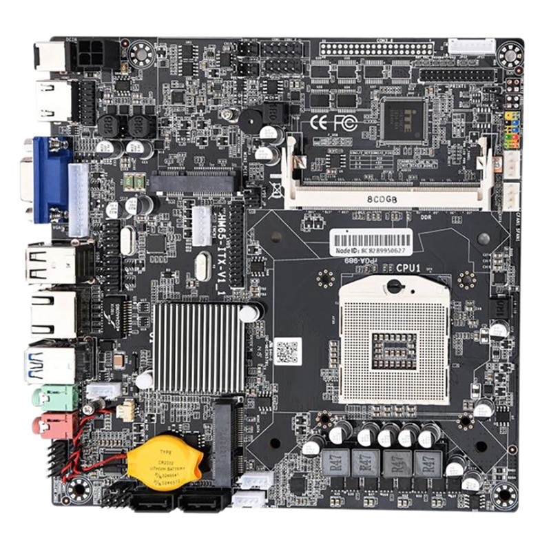 HM65 PGA988 حاسوب شخصي مكتبي اللوحة الرئيسية DDR3 SATA II لوحة تحكم رئيسية ITX مصغر لمضيف صغير/HTPC/راديو/آلة الإعلان