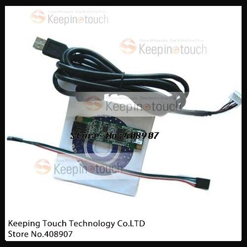 Panel de pantalla táctil LCD USB resistivo de 4 cables, controlador de puerto, controlador de Panel táctil