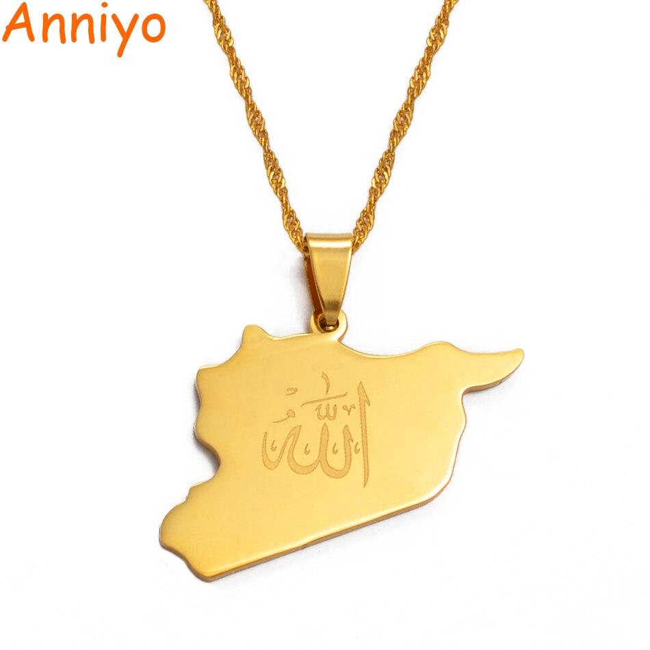 Ожерелье Карты аннийо, в виде карты страны, в виде витка, вола, золотого цвета, ожерелье карты, украшения, подарки #020121