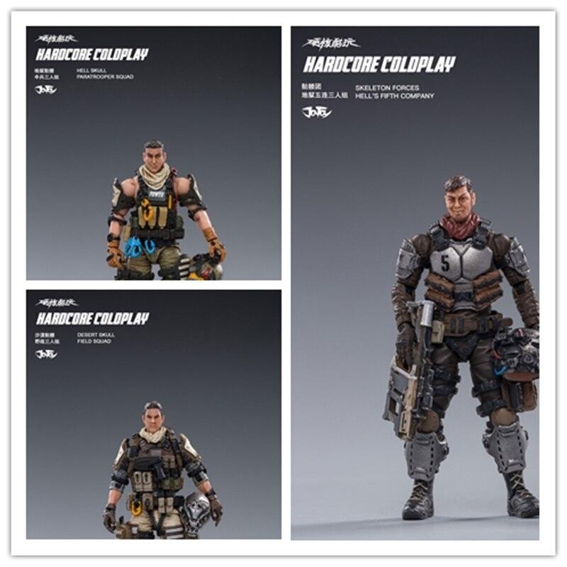 (3 unids/set) 1/18 JOYTOY figura de acción HELL SKULL PERISH paracaidista HELLS FIFTH SQUAD juguete coleccionable modelo militar