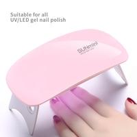 Лампа для ногтей 6 Вт, Сушилка для ногтей белая, розовая, УФ светодиодный Ная, портативная, с usb-интерфейсом, очень удобная для домашнего испол...