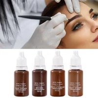 4 colors black permanent makeup micro pigments set tattoo ink cosmetic 15ml kit for tattoo eyebrow lip make up mixed color