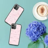 pink blush bossing phone case for iphone 7 8 11 12 x xs xr mini pro max plus retro black grey clear transparent