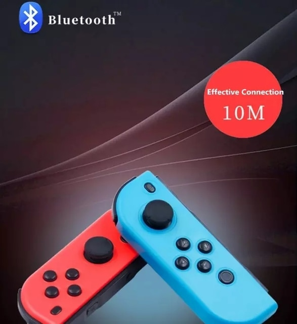 2021 New Bluetooth Wireless Controller for Nintend Switch joy Left & Right Console Joystick Red and blue Bluetooth Function 10