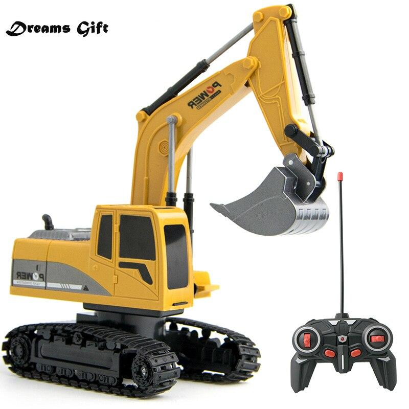 Excavadora de canal 1:24 rc para niños, juguete de ingeniería, coche de...