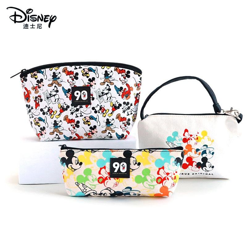 Disney Mickey 90th Anniversary Series Cartoon Cute Fashion Practical Student Pencil Case tsum tsum High capacity Pencil case