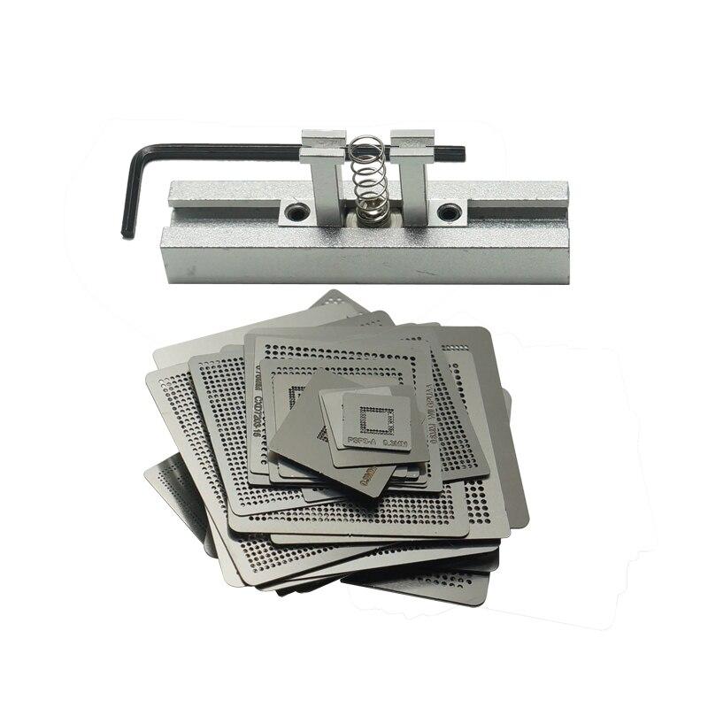 BGA Reball Kit 47pcs/set game consoles Directly Heating BGA stencil for XBOX 360CPU PS3-CPU WII GPU CXD2949CGB