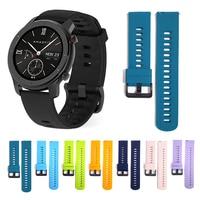 Ремешок силиконовый для смарт-часов Xiaomi Huami Amazfit, браслет для Amazfit Bip GTR 47 мм 42 мм GTS 2 2e Stratos